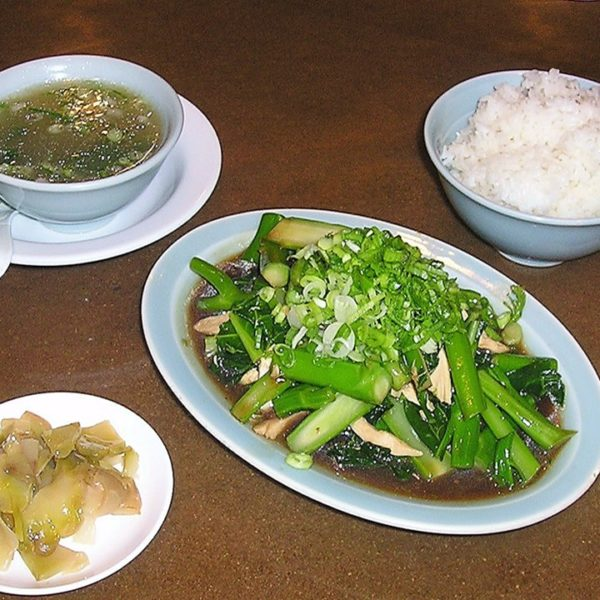 CHINESE BROCCOLI WITH OYSTER SAUCE RICE